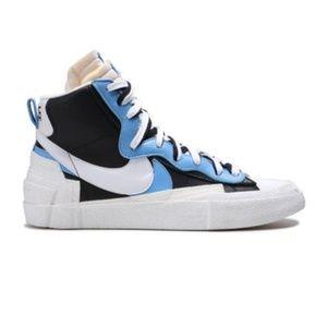 Sacai X Blazer Mid 'Black Blue'  Size 10